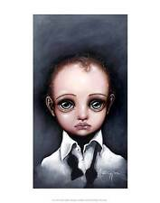 XAVIER PRINT BY ANGELINA WRONA 11x14 poster fantasy surreal little boy big eyes