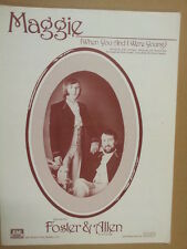 song sheet MAGGIE Foster + Allen 1979