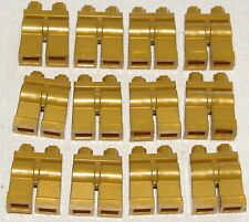 LEGO LOT OR 12 NEW PEARL GOLD MINIFIGURE LEGS CASTLE KNIGHT KINGDOMS PANTS