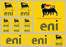 eni decal set 12 quality printed and laminated stickers - motorcycle