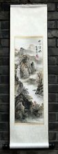 "Chinese print painting wall scroll landscape 9x36"" autumn feng shui brush art"