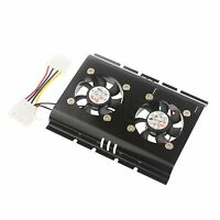 "3.5"" inch SATA IDE Hard Drive Disk HDD Dual Cooling Fan Cooler for PC Desktop"
