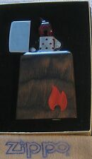 ZIPPO  ROSEART Table Lighter OCEAN TREASURE  Coral  Flame  PEWTER WOOD Rare NOS