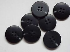 8pc 23mm Black Mock Bone Horn Suit Cardigan Trouser Shirt Kid Baby Button 0388