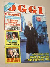 OGGI=1986/11=RAFFAELLA CARRA=OSHO RAJNEESH=NINO TARANTO=MARIE LAFORET=ALBERONI=