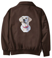 Yellow Labrador Retriever Embroidered Jacket - Jacket Back - Sizes XS thru XL