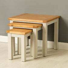 Mullion Painted Nest of Tables / Oak Side Tables / Small Painted Side Tables