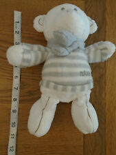Next white teddy bear with grey & white jumper & scarf