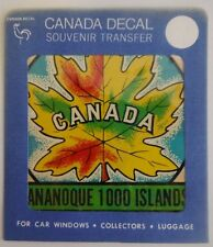 VINTAGE GANANOQUE 1000 ISLANDS CANADA DECAL - UNUSED