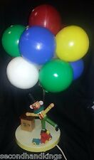 VINTAGE DOLLY TOY CIRCUS CLOWN, DOG & BALLOON KIDS TABLE LAMP & NIGHT LIGHT