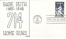 US FDC #2046 Babe Ruth, LRM (12834)