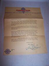 1940 CHAMP ITEMS Letter SAINT ST LOUIS MISSOURI - Auto Repair Parts