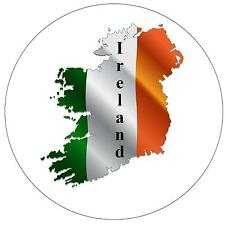 IRELAND MAP / FLAG - ROUND SOUVENIR FRIDGE MAGNET - NEW - GIFT
