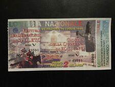 BIGLIETTO LOTTERIA  FESTIVAL SPOLETO 1996