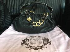 Gorgeous Collectible RARE Juicy Couture Black LEATHER Handbag w/ Dust Bag!