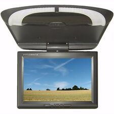 9'' Car Monitor Roof Mount LCD Flip Without DVD Screen Overhead Multimedia Black