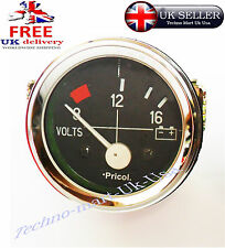 52MM CAR AUTO MECHANICAL VOLT VOLTMETER VOLTAGE METER GUAGE CLOCK CHROM 8~16 BAR