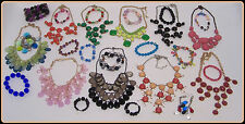 Vintage to Now Statement Necklaces & Bracelets Resin Beads vg cond AAA N276