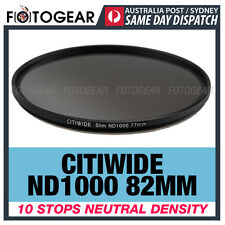 Citiwide ND1000 82mm 10 stops Slim Neutral Density Camera Lens Filter Hoya ND400