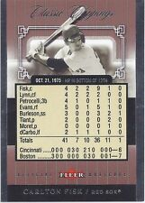 Carlton Fisk RED SOX 2005 Fleer Classic Clippings BOXSCORE /1975