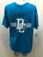 DC Shoe Co. American-Made 100% Cotton Men's Teal T-Shirt  Size Medium New!