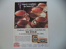 advertising Pubblicità 1965 TE' TEA STAR THE'