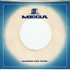 "Company Sleeve 45 Mega - Blue W/ White Center ""Records And Tapes"""