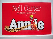 ANNIE Herald NELL CARTER Martin Beck Theatre 20TH ANNIVERSARY NYC 1997
