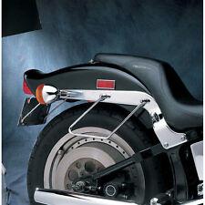 Paire de Chrome Supports pour Sacoche pour Harley-Davidson Softail 1984-99