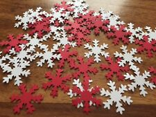 110 Snowflake Table Confetti CARD Red White frozen Christmas Table Decorations