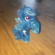 My Little Pony Blind Bag RAINBOW DASH Wave 4 Blue Clear Glitter Mini Cake Topper
