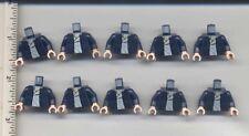 Star Wars LEGO x 10 Dark Blue Han Solo Jacket White Shirt Minifig Torso NEW 8129