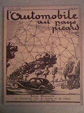 L'AUTOMOBILE au PAYS PICARD n°  289/octobre 1935 Aéro Club de Picardie