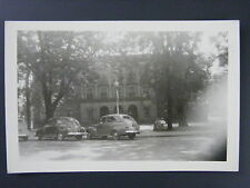 Caldwell Ohio OH Courthouse View Old Cars Real Photo Postcard RPPC 1940s