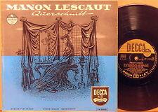 """RARE DECCA 10"""" GERMANY Puccini MANON LESCAUT Pradelli TEBALDI MONACO LW-50008"""