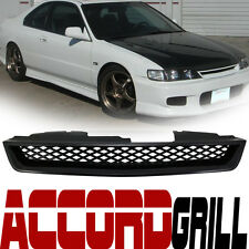 JDM Blk Style Mesh Type Front Hood Bumper Grill Grille Abs 94-97 Honda Accord R