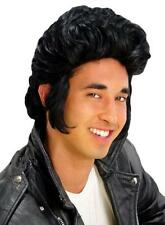 50's GREASE BLACK POMPADOUR WITH SIDEBURNS WIG COSTUME MR179008