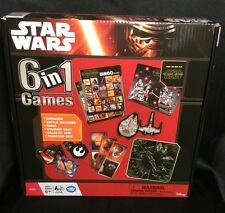 NEW Disney Star Wars 6 In 1 Games : Dominoes Bingo Dice Matching Spin Race Age6+