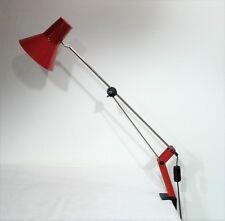 mid century design - Gelenkleuchte Arbeitsplatzlampe rote Lampe Klemmlampe ~60er