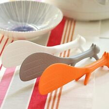 Korean Cute Squirrel Rice Paddle Spoon Scoop Ladle Kids Stander Kitchenware New