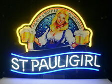 New St. Pauli Girl Real Glass Neon Light Sign Home Beer Bar Sign St.Pauli L05