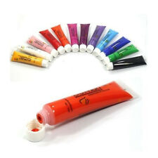 12 Color 3D Draw Paint Painting Brush Tube Acrylic UV Gel For Nail Art Tips 12ml