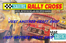 Scalextric Mini Cooper Rally Cross Poster Advert Leaflet Shop Display Sign