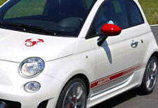 Fiat 500 abarth decal set-avec gratuit scorpion bonnet decal