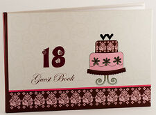 Happy18th Birthday Party Guest Book for Girl | Gift Present for Her | Keepsake