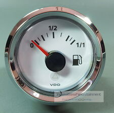 VDO TANKANZEIGE für HEBELGEBER -  INSTRUMENT 12V  FUEL LEVEL GAUGE Chromring