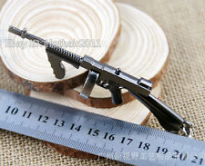 Cross Fire Arm Thompson Submachine Gun Military Model Weapon Keychain Keyring