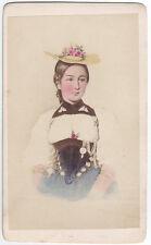 Tracht aus dem Kanton Bern, herrliche hand-kolorierte Ansicht um 1865