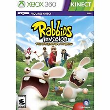(NEW SEALED) RABBIDS INVASION XBOX 360 KINECT FAMILY FUN GAMES
