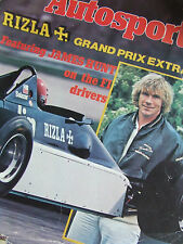 AUTOSPORT MAGAZINE 1981 SUPPLEMENT RIZZLA + GRAND PRIX EXTRA JAMES HUNT ON F1